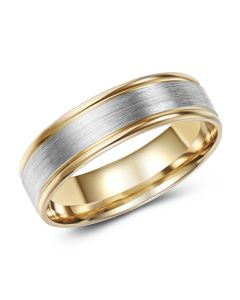 Two Tone Band Brushed Centre