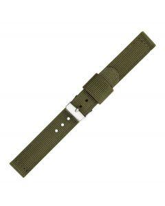 Green Two Piece 22mm Nylon Watch Strap