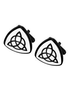 Triquetra cuff links