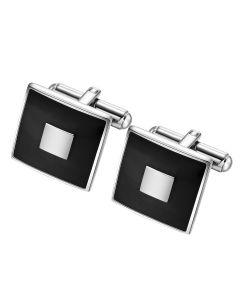 Square bezel cuff links