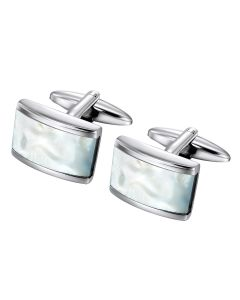 Rectangle mother of pearl cuff links