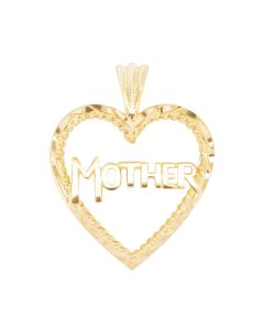 Large Mother Charm in Heart Frame