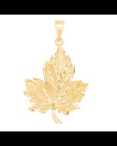 Large Textured Maple Leaf Charm
