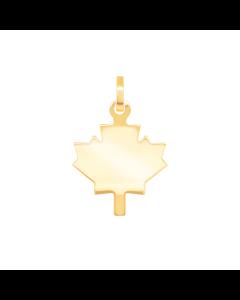 Simple Maple Leaf Symbol Charm