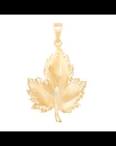Large Textured Maple Leaf Charm 2