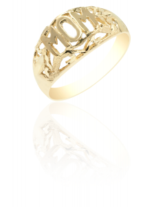 Mom Ring with Diamond Cuts