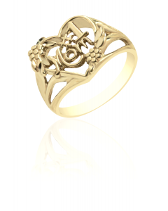 #1 Mom Ring with Heart