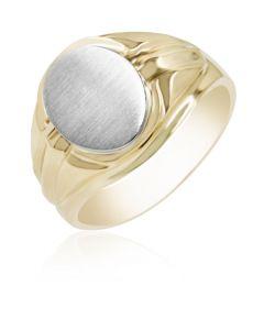 Signet Ring High Polish Shoulders