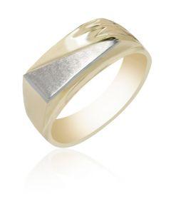 Signet Ring High Polish & Grooved Shoulder