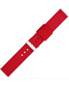 Red Two Piece 22mm Nylon Watch Strap