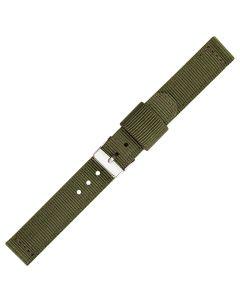 Green Two Piece 16mm Nylon Watch Strap