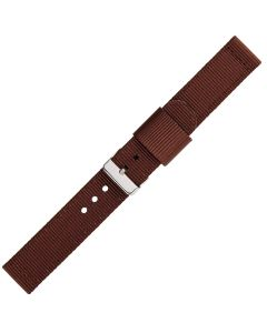 Brown Two Pieces 20mm Nylon Watch Strap