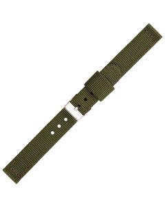 Green Two Piece 14mm Nylon Watch Strap