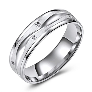 White Gold Design Bands