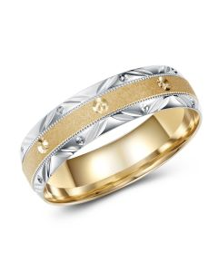 Two Tone Diamond Cut Band
