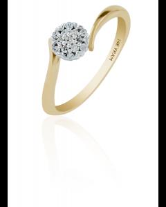 Ladies diamond ring cluster