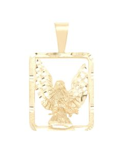 Eagle Charm in Square Frame