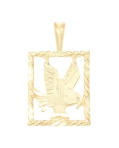 Eagle Charm in Square Frame 3