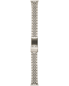 Stainless Steel 16mm Train Track Style Buckle Watch Strap