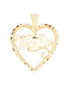 Large Mother Charm in Heart Frame 2