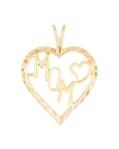 Large Mom Charm with Heart in Heart Frame 2