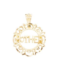 Small Mother Charm in Circular Frame