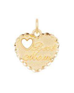 Best Mom Charm in Heart Frame
