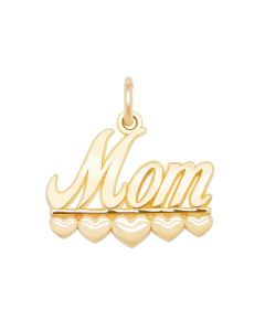 Mom Charm with Hearts
