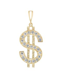 Dollar Sign with Cubic Zirconia