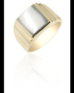 Signet Ring Rectangle Brushed Face
