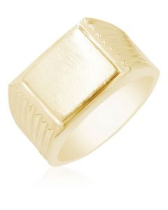 Signet Ring with Ridged Edges