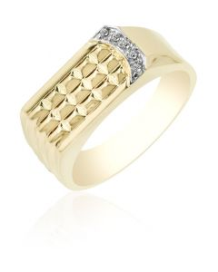 Pavilion Ring with Cubic Zirconia