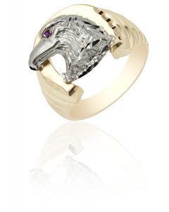 Horse Shoe Ring with Eagle Head