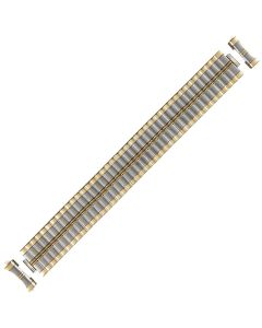 Two Tone Metal Lipstick Style Expansion Watch Strap 21mm