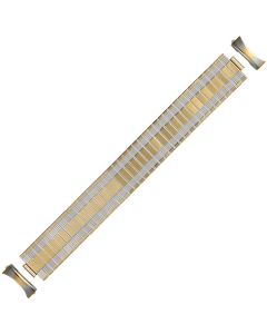 Two Tone Metal Ruler Style Expansion Watch Strap 20mm