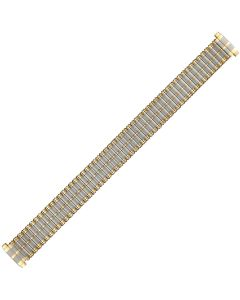 Two Tone Metal Caterpillar Style Expansion Watch Strap