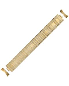 Yellow Metal Ruler Style Expansion Watch Strap 20mm