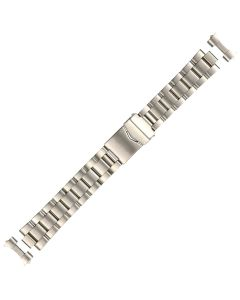 Stainless Steel 20mm Curved Cube Box Style Buckle Watch Strap