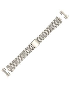 Stainless Steel 18mm Curved Cube Box Style Buckle Watch Strap